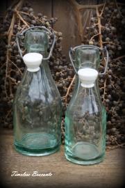 Set melkflessen met porseleinen dop