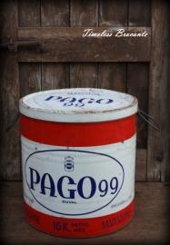 Groot oud winkelblik PAGO 99 margarine