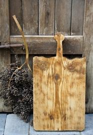 Oude houten broodplank/kaasplank