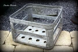 Industrieel zinken krat
