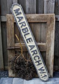 Brocante houten straatnaambord Londen