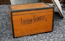 Antieke Amidon-Delmotte stijfselkist