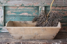 Oude houten trog/mangelbak