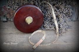 Zeldzaam vintage Engels Treble meetlint 40 meter (nr. 1534)