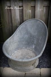 Oud zinken zitbad