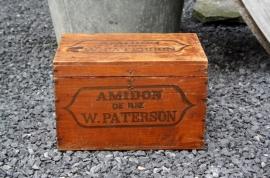 Zeldzaam antiek Engels stijfselkistje W. Paterson