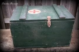 Oude medische legerkist