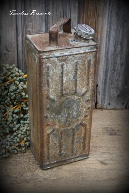 Oude Franse oliekan/olieblik