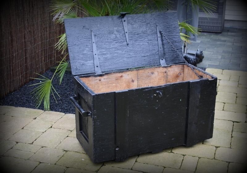 Onwijs Stoere industriële houten kist XXL | Verkocht | Timeless Brocante GX-11