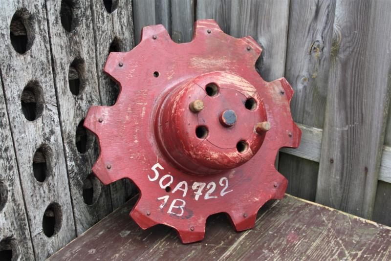 Oude houten industriële mal
