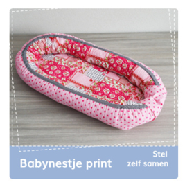 Babynestje print: stel zelf samen