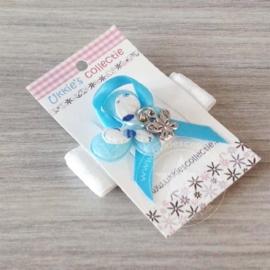 Haarband vlinder blauw