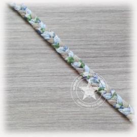 Gevlochten haarband blue flower beach