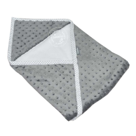 Wikkeldoek super soft grijs - wit