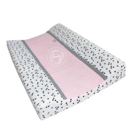 Aankleedkussenhoes licht roze wafel