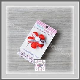 Haarbandje lusjesbloem rood