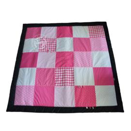 Speelkleed roze - fuchsia - zwart