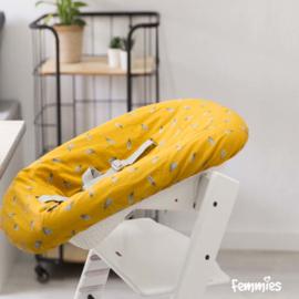 Newborn hoes oker geel - veer