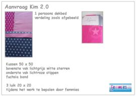 Aanvraag Kim 2.0 -dekbedovertrek - kussen  - 3 luik