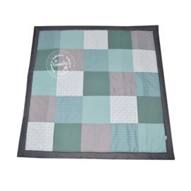 Speelkleed oud groen - pluisjes - triangel
