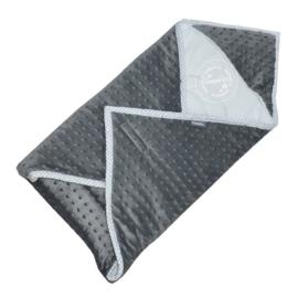 Maxi cosi wikkeldeken super soft grijs - wit