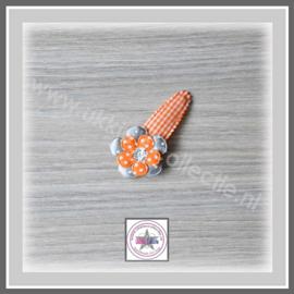 Ukkies speld oranje - grijs glitter