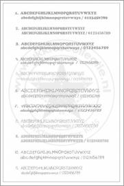 Keuzelijst lettertype