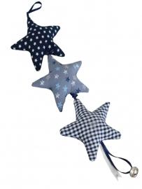 Muurhanger blauw varia ster