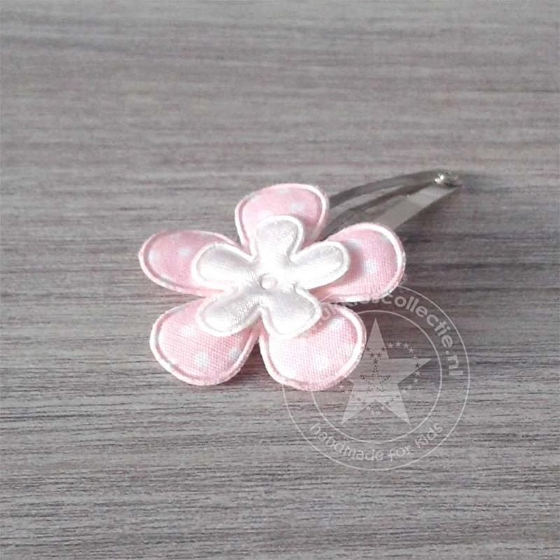 Ukkies speld roze - wit