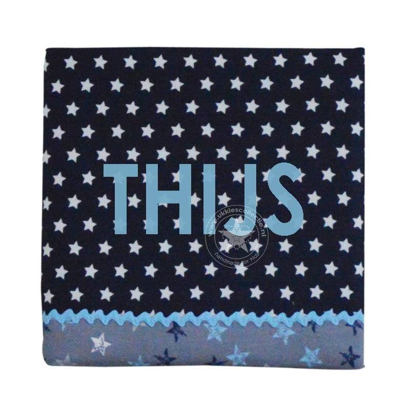 Schilderij blauw varia ster Thijs