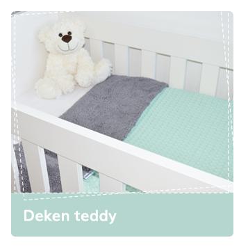 Deken Teddy wafel Babydeken deken dekens wiegdeken ledikantdeken