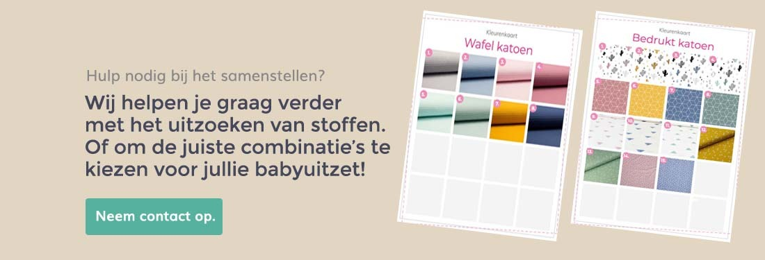 stel zelf samen, kleurenkaart stofkeuze stoffen, wafel, katoen, teddy, borg wafelkatoen, alles voor de babykamer en kinderkamer