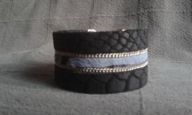 """PROUD! armband """"Gaby""""  zwart/blauw"""