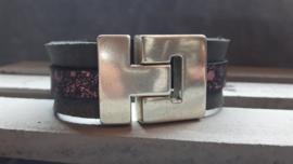 Grey & Pink Metallic