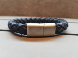 Braided! Oval black 10 mm