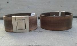 Vintage heren armband bruin