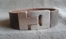 Vintage heren armband Texas bruin