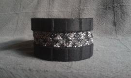 """PROUD! armband """"Gaby""""  zwart/zwart glitter"""