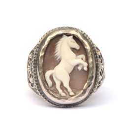 Large ring with horse cameo