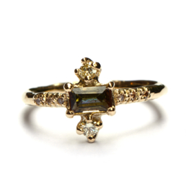 Princess ring met andalusiet en diamant