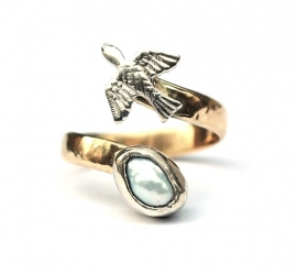 Free as a Bird, made from an old wedding ring