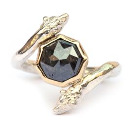 Berenring met octagon diamant