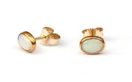 Gouden oorstekers met opalen