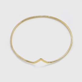 Geelgouden chevron armband 2,3 mm breed