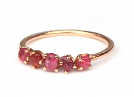 Ruwe spinel ring