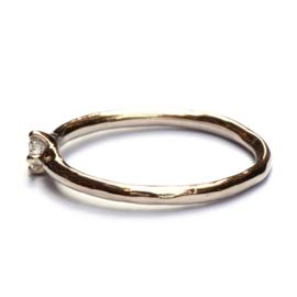 Elegante ring in champagnegoud