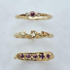 Ring Minnie met framboise diamant