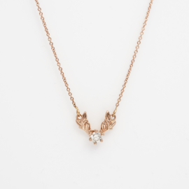 Collier Olivia met witte diamant