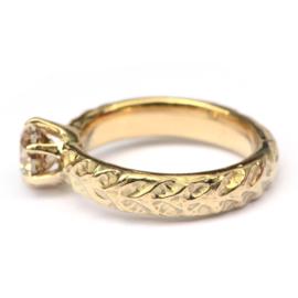 Verlovingsring met bruine diamant GERESERVEERD