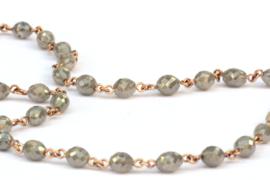 Diamantcollier olive grey